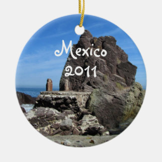 Forever Rock; Mexico Souvenir Double-Sided Ceramic Round Christmas Ornament