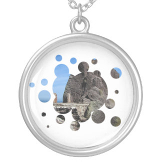 Forever Rock Round Pendant Necklace