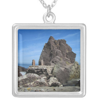 Forever Rock Square Pendant Necklace