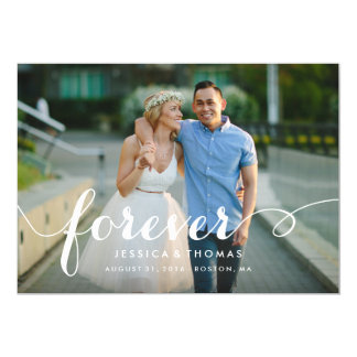 Forever Save the Date Overlay 5x7 Paper Invitation Card