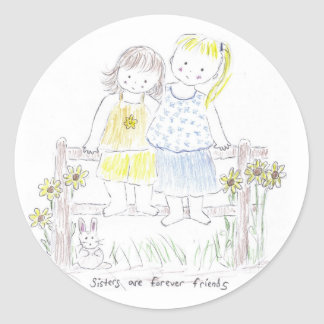 Forever_sisters Classic Round Sticker