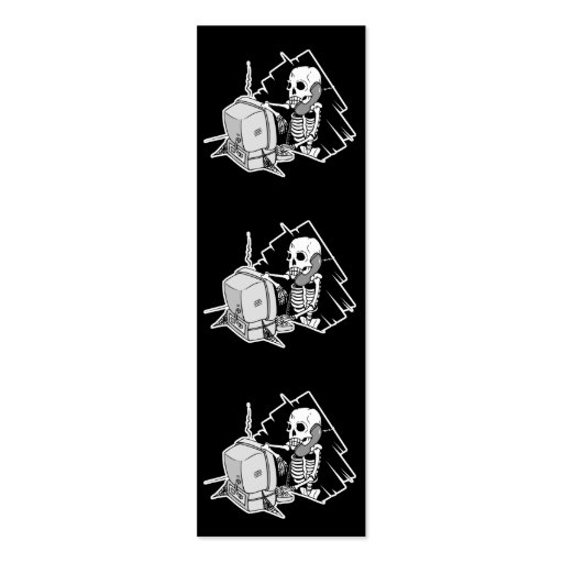 forever skeleton on hold tech support bookmark Double-Sided mini business cards (Pack of 20)