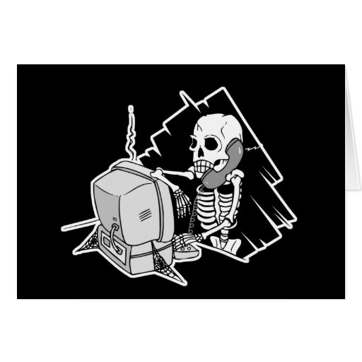 forever skeleton on hold tech support cards
