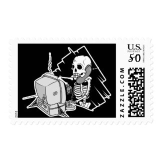 forever skeleton on hold tech support postage