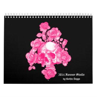 Forever Skulls Goth Fantasy 2014 Calendar