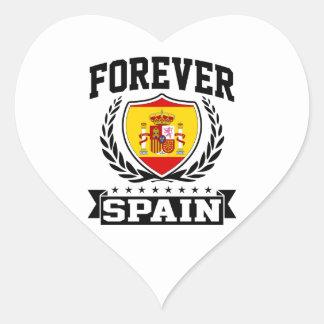 Forever Spain Heart Sticker