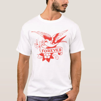Forever Sparrow Retro Vintage Tattoo Tee
