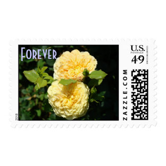 Forever Stamps Yellow Rose Garden Postage