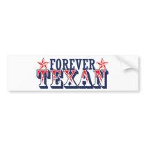 Forever Texan Bumper Sticker