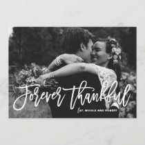 Forever Thankful Hand Lettered Wedding Thank You