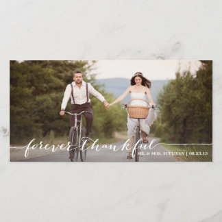 Forever Thankful Handwritten Thank You Photo Card