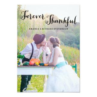 FOREVER THANKFUL SCRIPT | WEDDING PHOTO CARD