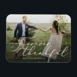 """Forever Thankful Thank You Magnet<br><div class=""""desc"""">Gift your guests with a Save the Date Magnet to showcase on the refrigerator leading up to your big day!    All photography is displayed as a sample only and is not for resale. This product is only intended to be purchased once sample photos are replaced with your own images.</div>"""
