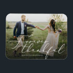 "Forever Thankful Thank You Magnet<br><div class=""desc"">Gift your guests with a Save the Date Magnet to showcase on the refrigerator leading up to your big day!  