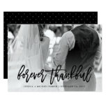 Forever Thankful | Typography and Wedding Photo Card
