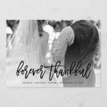 Forever Thankful | Typography and Wedding Photo Thank You Card
