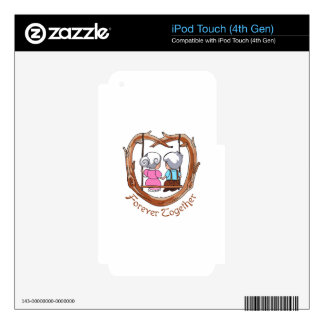 FOREVER TOGETHER iPod TOUCH 4G SKINS