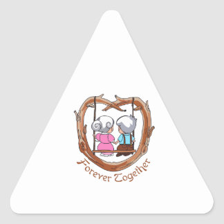 FOREVER TOGETHER TRIANGLE STICKER