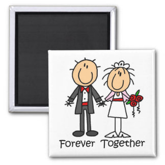 Forever Together T-shirts and Gifts 2 Inch Square Magnet