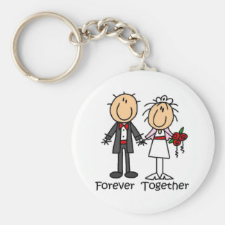 Forever Together T-shirts and Gifts Basic Round Button Keychain