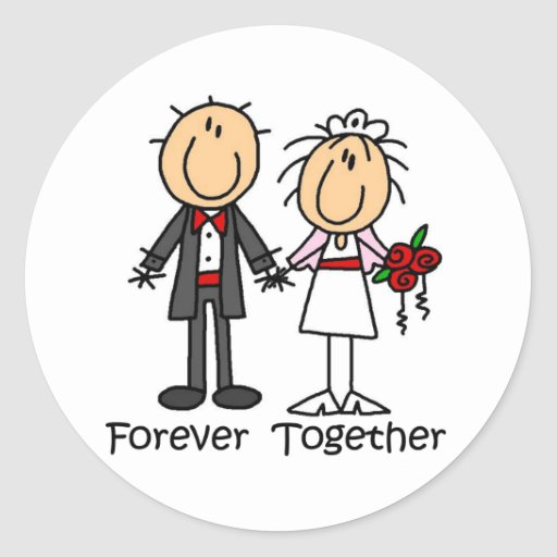 Forever Together T-shirts and Gifts Round Sticker