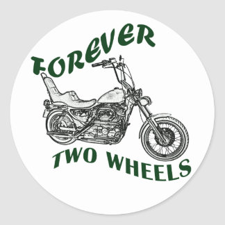 Forever Two Wheels - Biker Classic Round Sticker