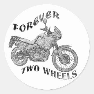 Forever Two Wheels - Biker Classic Round Sticker