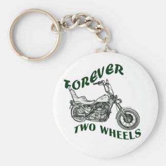 Forever Two Wheels - Biker Basic Round Button Keychain