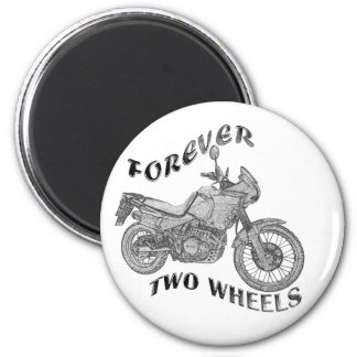 Forever Two Wheels - Biker 2 Inch Round Magnet