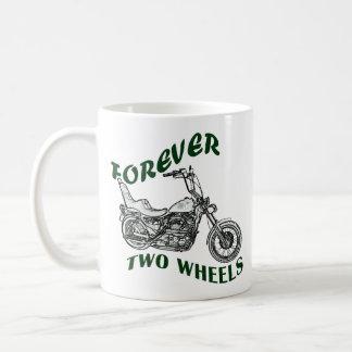 Forever Two Wheels - Biker Classic White Coffee Mug