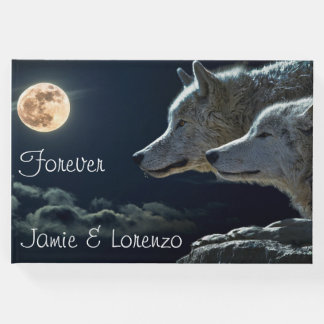 """Forever"" Two Wolves and a Full Moon Guest Book"