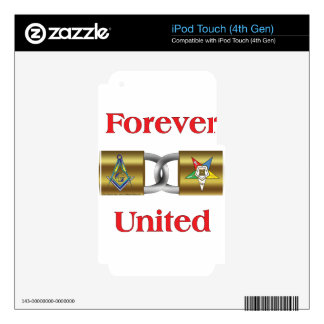 Forever United Decals For iPod Touch 4G