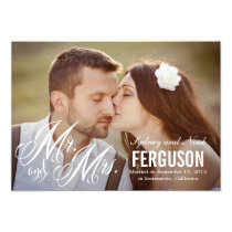 Forever Us Wedding Announcement - White