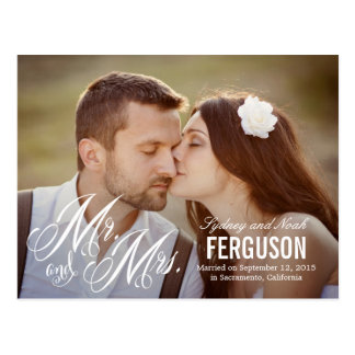 Forever Us Wedding Announcement - White Postcard