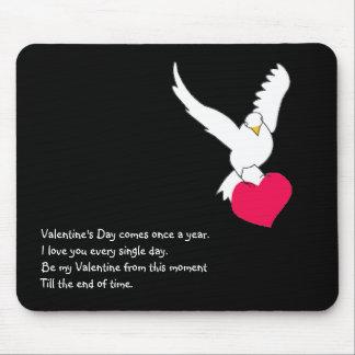 Forever Valentine Dove & Heart Mousepad