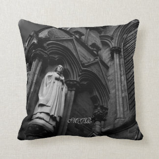 Forever Watching Cleric Gothic-style Throw Pillow