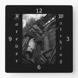 Forever Watching - Gothic Style Square Wallclock