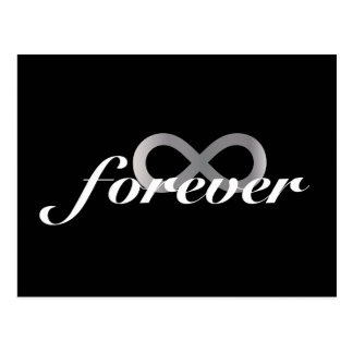 Forever with infinity symbol post cards