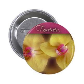 Forever ... yellow iris button