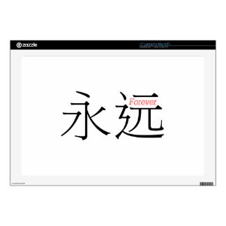 FOREVER (yong'yuan) in Chinese Characters Decal For Laptop