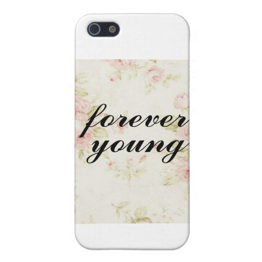 Forever Young Floral iPhone 5 Covers