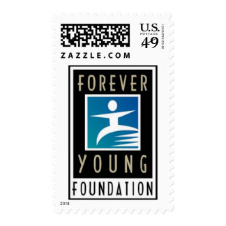 Forever Young Logo Postage Stamp