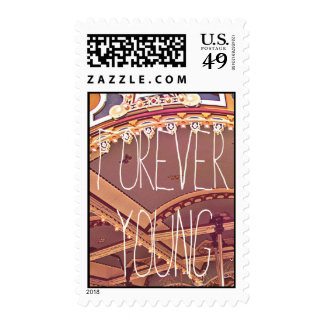 Forever young postage stamp