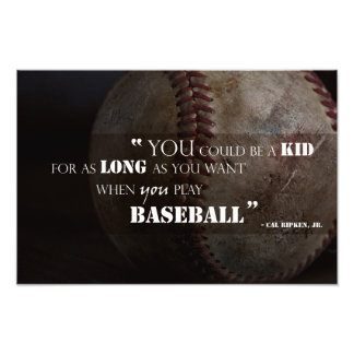 Forever Young Quote Baseball Fine Art Print Photo Print