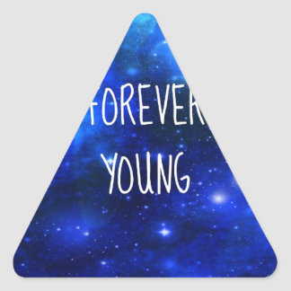 Forever Young Space Galaxy Triangle Sticker