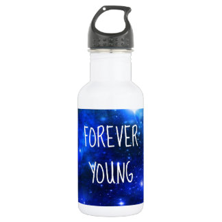Forever Young Space Galaxy Water Bottle