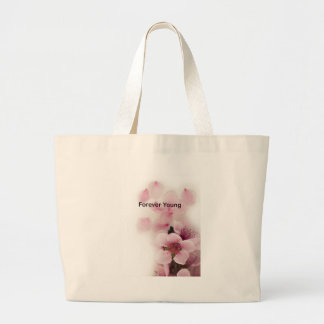 forever young tilte large tote bag