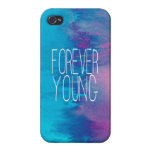 Forever Young Turquoise Ombre Cases For iPhone 4