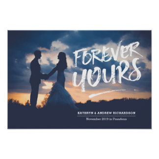 Forever Yours Dry Brush Typography Photo Template Poster