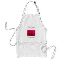 Forever Yours! Wedding serving apron Pink Rose